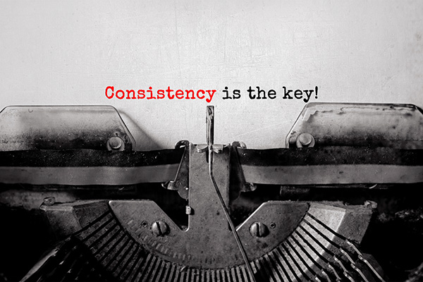 Consistency is the Key for Writing